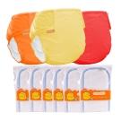 COTEX可透舒-環保布尿布 日間半日入門組 3件外兜 6片日用型吸尿墊