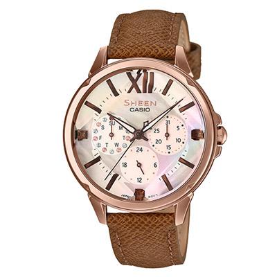 SHEEN 鑽石美后晶鑽時尚腕錶-SHE-3056PGL-7AUDF-35mm