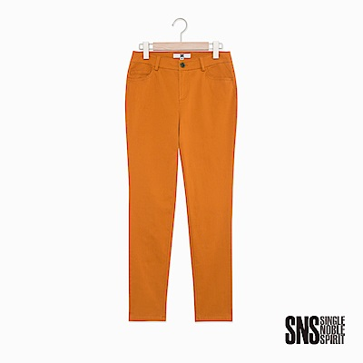SNS 自在率性簡約純色修身直筒褲(3色)