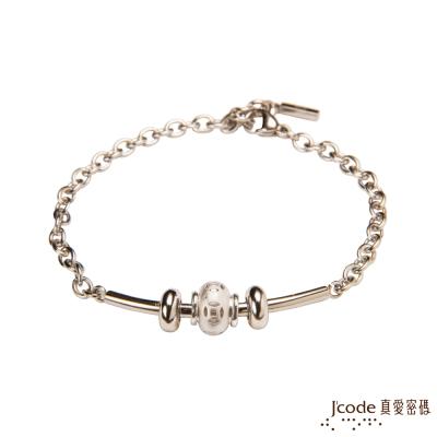 J code真愛密碼銀飾 錢轉來純銀/白鋼手鍊
