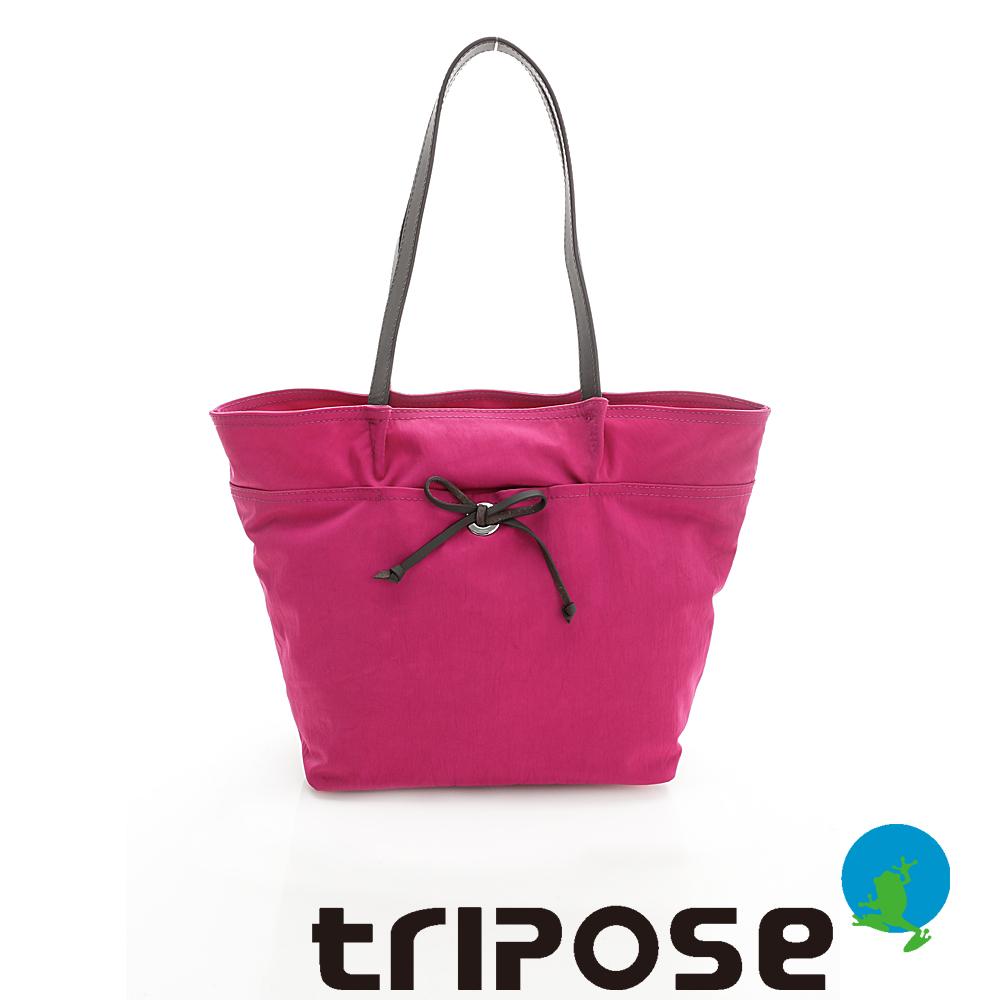 tripose YOLO系列多格層機能購物包(中) - 桃紅