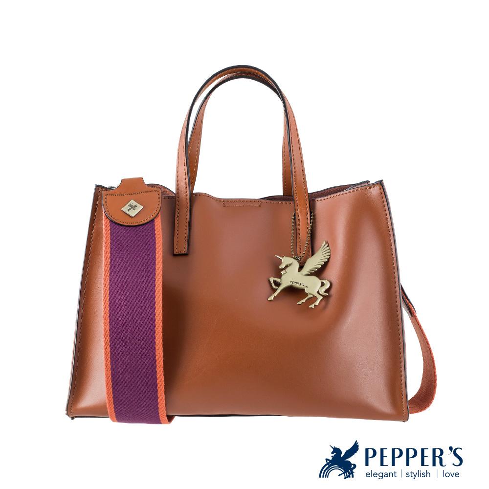 PEPPER'S Norah軟牛皮提包 - 焦糖棕