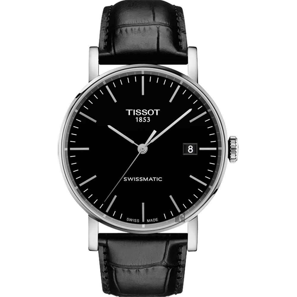 TISSOT 天梭 Everytime 魅時系列機械錶-黑/40mm
