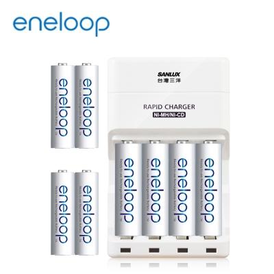 Panasonic eneloop低自放電充電組(3號4號各4入+高效能充電器)