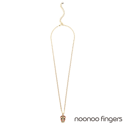 Noonoo Fingers Skull Necklace 骷顱頭 項鍊