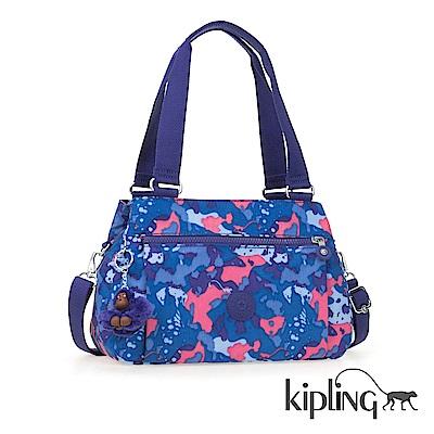 Kipling 斜背包 大麥町迷彩藍-中