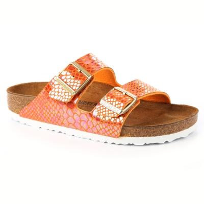 勃肯BIRKENSTOCK 1005288亞利桑那 經典二條拖鞋(石紋橙)