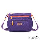 B.S.D.S冰山袋鼠-蘭姆嘉年華x菱格雙色梯形側背包-葡萄紫