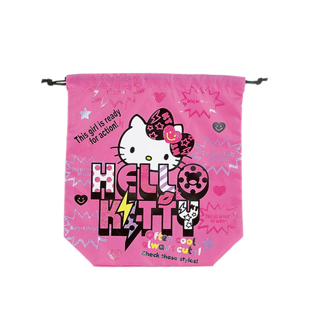 《Sanrio》KITTY*寶石寵物街舞炫風系列縮口袋L(KITTY)