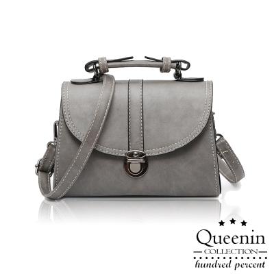 DF Queenin日韓 - 日系經典時尚設計文藝斜背式小包-共 2 色