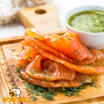 極鮮配888任選 冷燻鮭魚(100G±10%/包)-1包