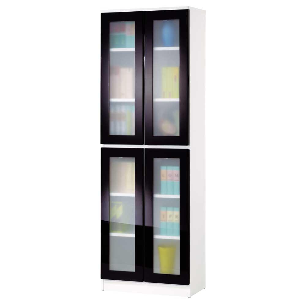 夢想家威尼斯2尺四門玻璃鏡面PU書櫃