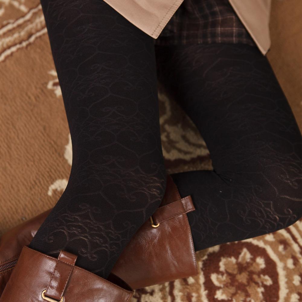 蒂巴蕾 inspire 超細纖維彈性褲襪Warm up 心心相印
