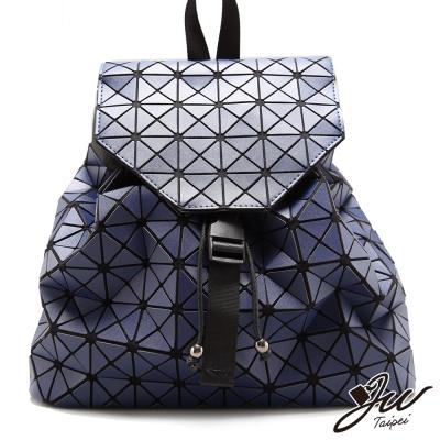 JW後背包-三角拼貼變形束口掀蓋後背包-共六色