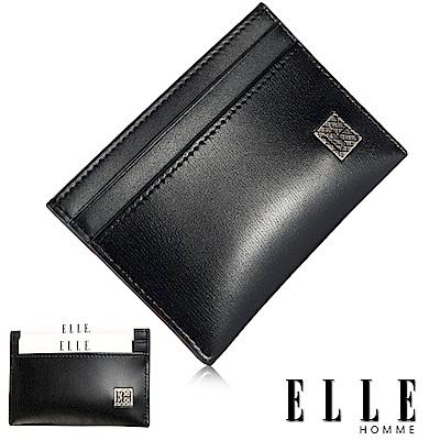 福利品 ELLE 法式樹紋系列 質感簡易攜帶型名片夾- 黑色