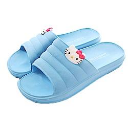 Hello kitty休閒拖鞋 藍 sk0328 魔法Baby