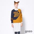 gozo 童趣風潮變化條紋寬版襯衫洋裝 (二色)