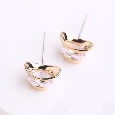 皇家遊樂園-迎春福925純銀鍍金元寶耳環