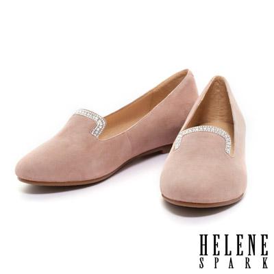 HELENE-SPARK-低調奢華羊麂皮樂福平底鞋