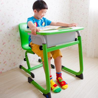 WSH-日式快樂兒童升降學習桌椅組-綠色