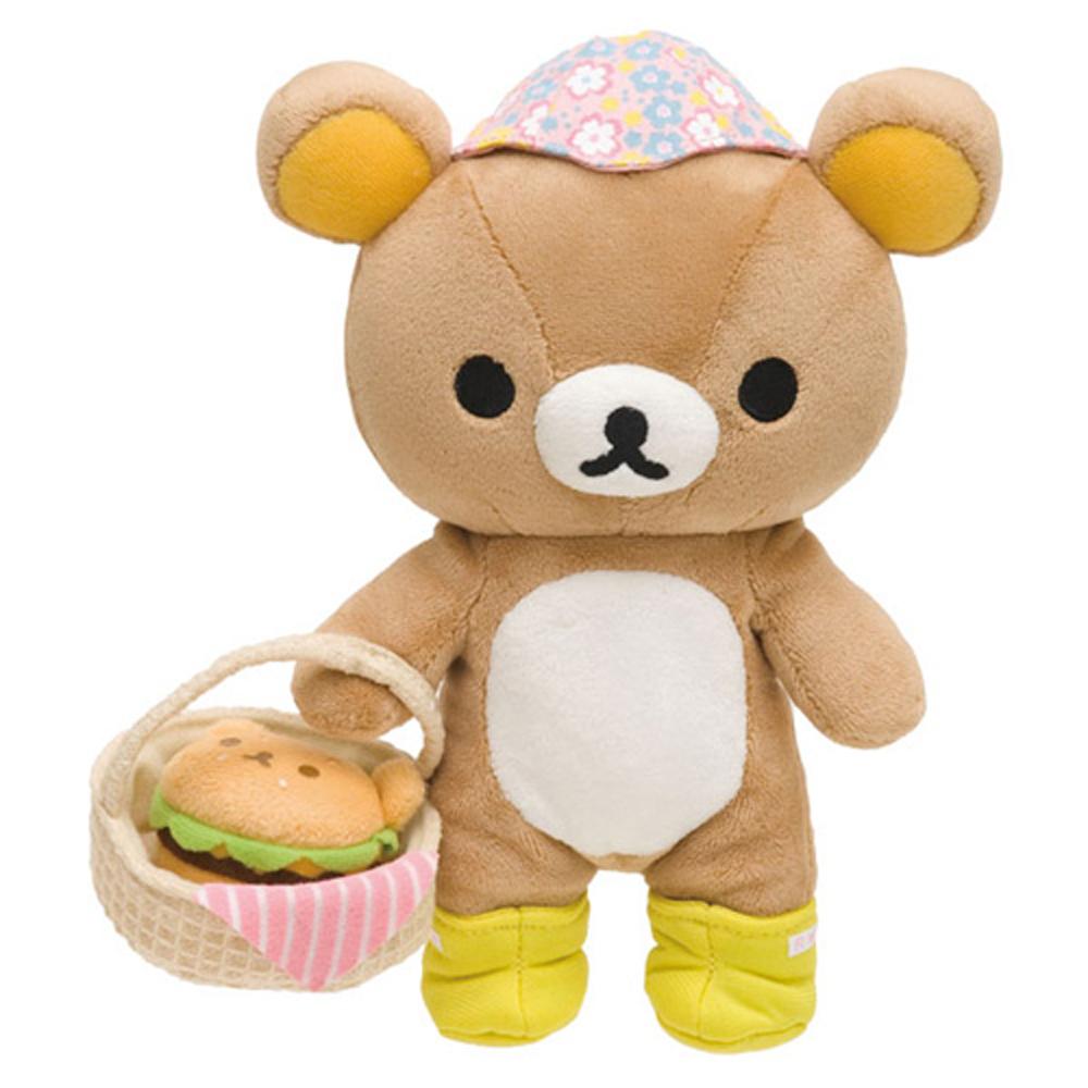 拉拉熊假日野餐系列毛絨公仔。懶熊