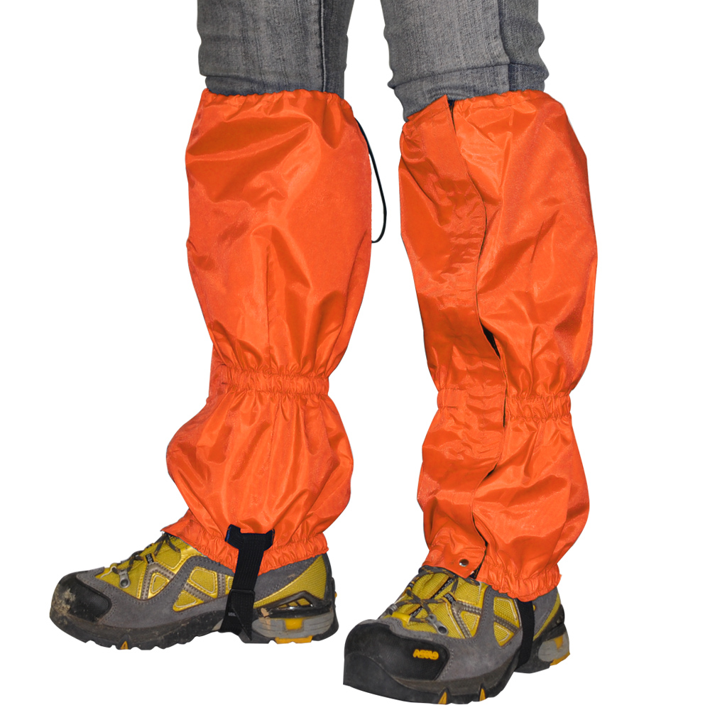 迪伯特DIBOTE拉鏈式登山防水綁腿腿套雪套-2色可選橘