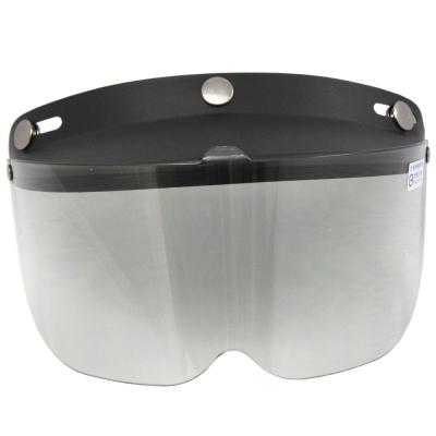 [快]耐磨抗uv安全帽護目鏡-短鏡片-2入