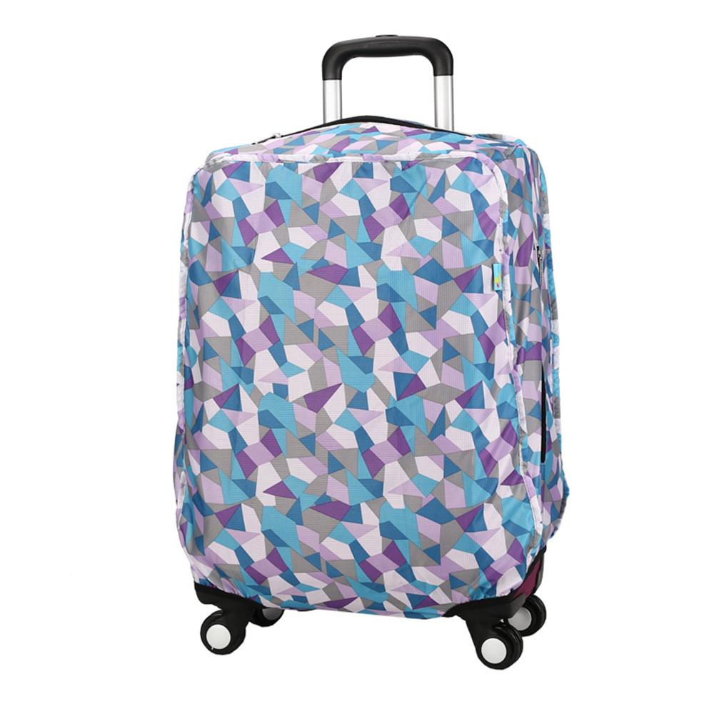 CARANY卡拉羊 加厚材質炫彩旅行箱專用箱套(藍色菱形/24吋)58-0037B-D1