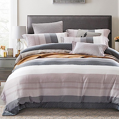 Ania Casa 天絲 TENCEL-加大鋪棉兩用被套床包四件組- 海風