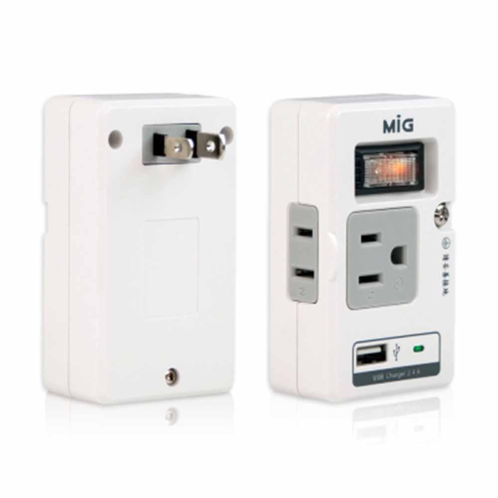 明家MIG-3孔+2孔+USB3插座接頭(SL219U1)-四色