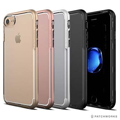 Patchworks iPhone 8/7 全包覆邊框透明手機保護殼