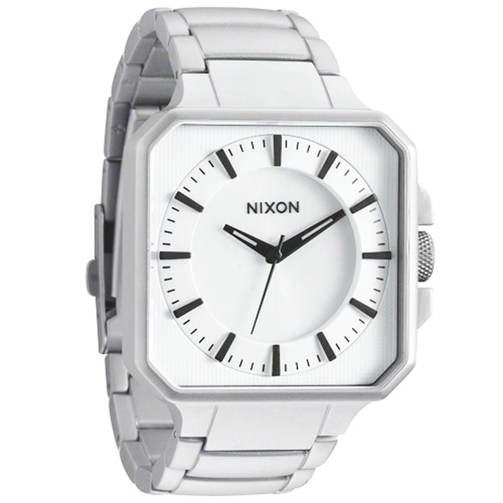 NIXON The PLATFORM 魅力都會風時尚運動腕錶-白/41mm