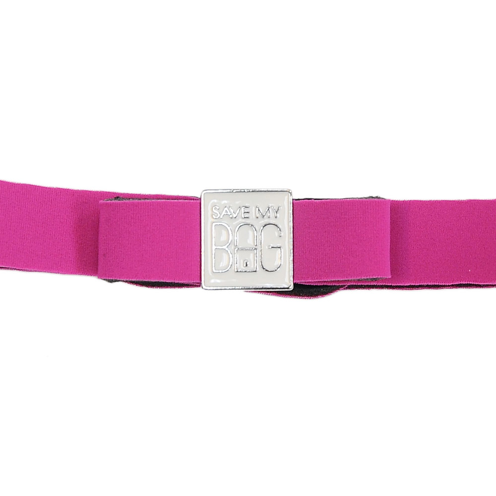 SAVE MY BAG 義大利品牌 MISS系列 桃紅色蝴蝶結裝飾帶