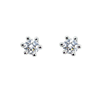 MANSTYLE「經典」0.20ct 鑽石耳環