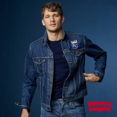 牛仔外套 男裝 LEVI'S X MLB堪薩斯市皇家 立體刺繡