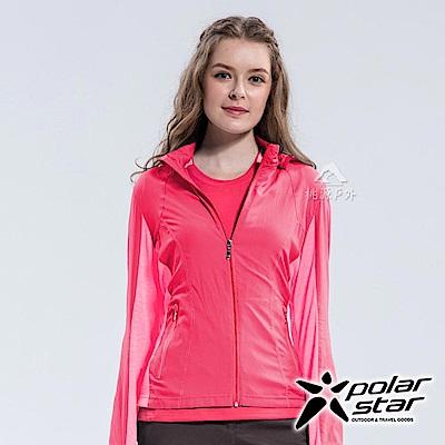 PolarStar 女 休閒抗UV連帽外套 防曬遮陽『桃紅』P18118