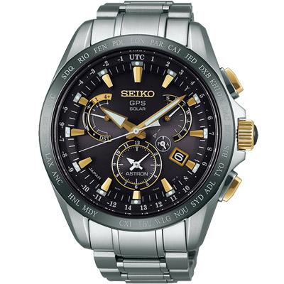 SEIKO ASTRON GPS衛星定位太陽能電波鈦金錶(SSE073J1)-45mm