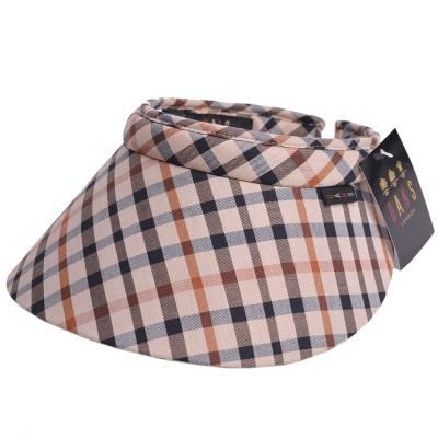 DAKS 經點格紋運動型遮陽帽(卡其格)