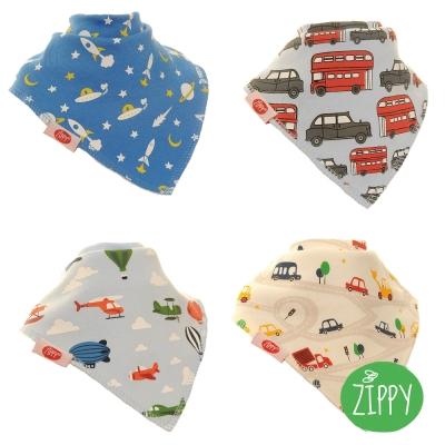 英國Zippy-幼兒時尚口水巾-四入組(SKU6273)