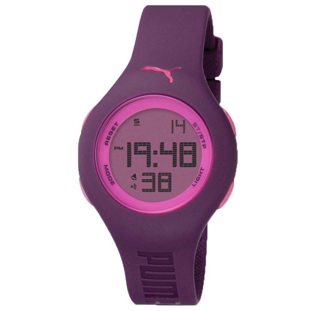 PUMA 陽光信號電子腕錶-紫/40mm