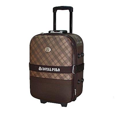 ROYAL POLO皇家保羅 25吋 格紋風2輪旅行箱/行李箱