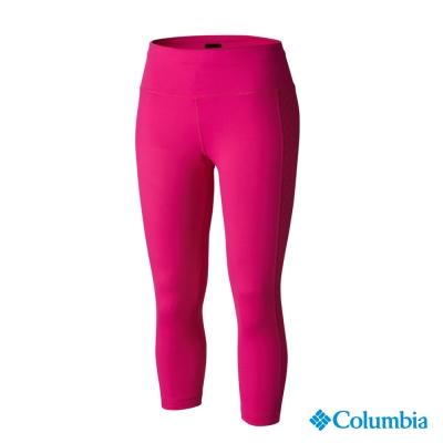 【美國Columbia哥倫比亞】快排七分褲-女-桃紅(UAR16520FC)