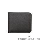 STORYLEATHER - 牛皮短夾 00521-A30 十字紋黑現貨