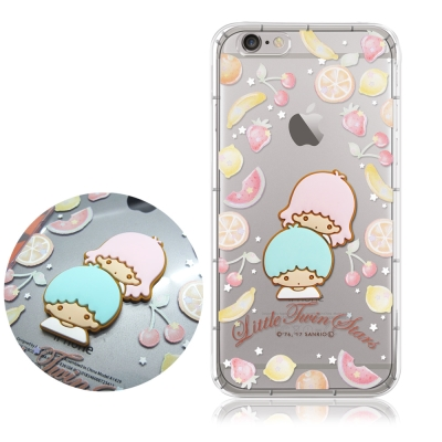 正版授權 雙子星 iPhone 6/6s Plus 立體大頭空壓手機殼(水果雙子...