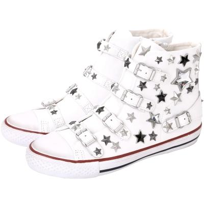 ASH VIVA 星型鉚釘釦帶高筒休閒鞋(白色)