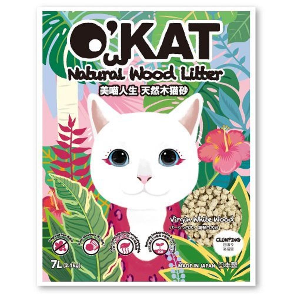 O-KAT美喵人生日本靜岡凝結型鋼琴白木貓砂7L