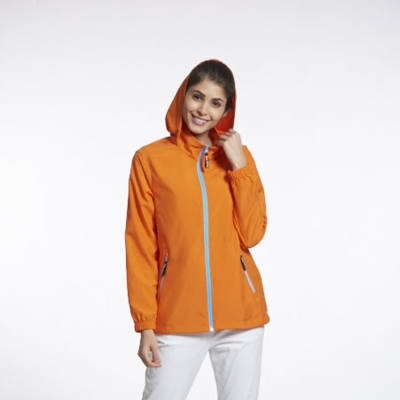 Sunrise 橘色輕薄透氣外套中性款-99329