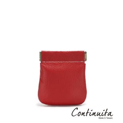 Continuita-康緹尼-MIT-頭層牛皮口袋零錢包-紅色