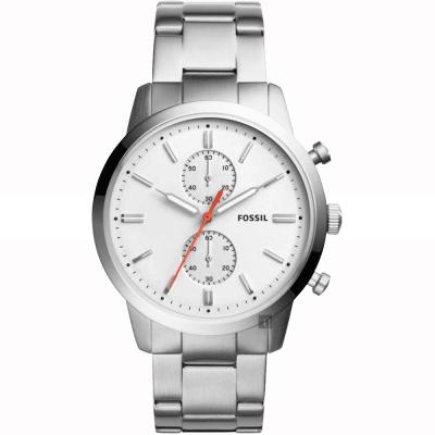 FOSSIL Townsman 城區計時手錶(FS5346)-銀/45mm