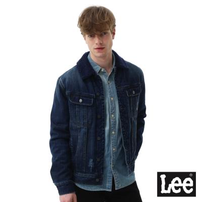 Lee 羊羔絨牛仔外套-男款-深藍